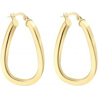 Ladies Essentials 9ct Gold Square Hoop Earrings