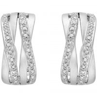 femme Jewellery Essentials Diamond Cross Over Earrings Watch AJ-12152340