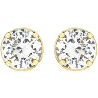 Damen Essentials 9ct Gold 5mm würfelförmig Zirconia Stud Ohrringe