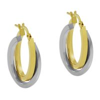 femme Jewellery Essentials Italian Intertwined Hoop Earrings Watch AJ-15030303