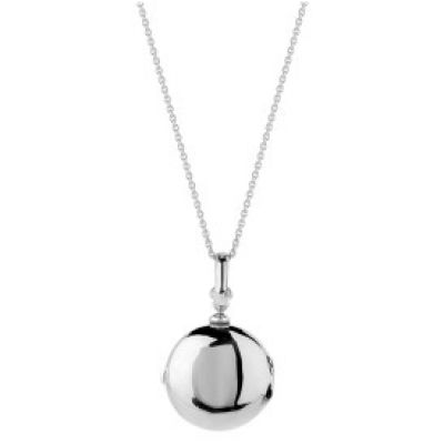 Ladies Essentials 9ct White Gold Round Locket Pendant AJ-14010020