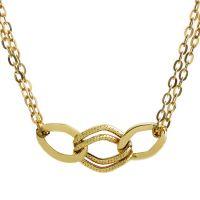 Damen Essentials 9ct Gold Italian Dreifach Verbindung Halskette