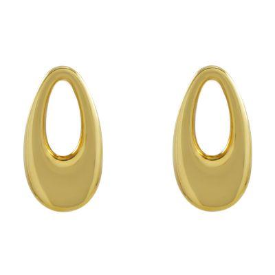 Ladies Essentials Sterling Silver Vermeil Oval Earrings AJ-37230781