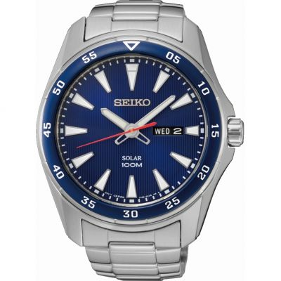 Mens Seiko Solar Powered Watch SNE391P1