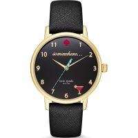 Kate Spade New York Metro 5 oclock Dameshorloge Zwart KSW1039