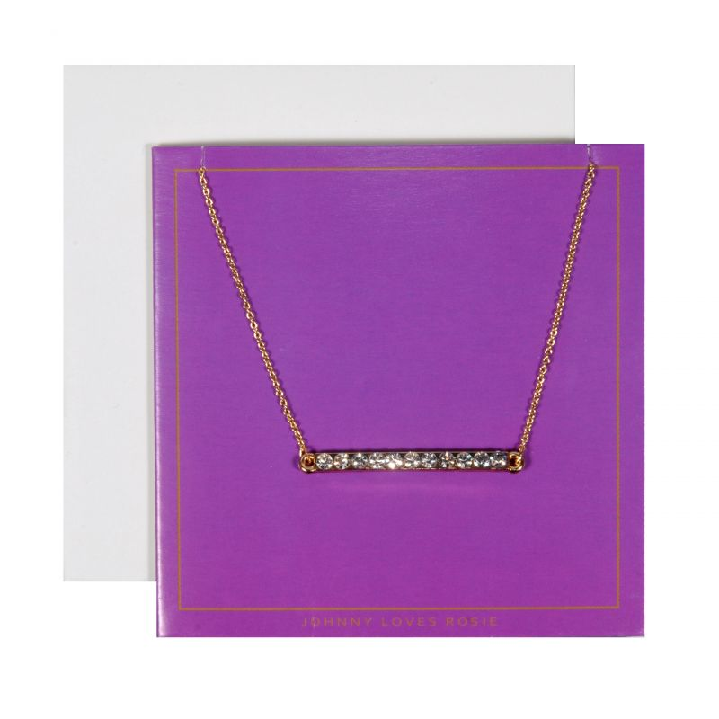 Johnny Loves Rosie Dames Bar Necklace Purple Gift Card Basismetaal JLR-GCARD-PURP