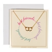 Johnny Loves Rosie Dames Best Friends Gift Card Basismetaal JLR-GCARD-BESTF