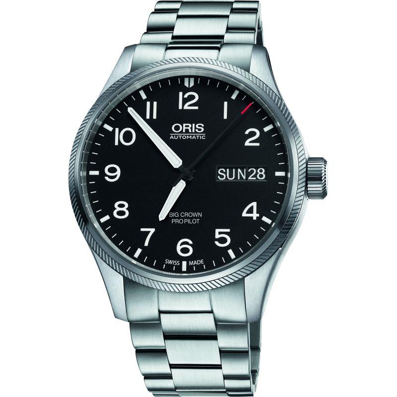 Mens Oris Big Crown ProPilot Day Date Automatic Watch