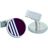 Mens Smart Turnout Cufflinks Stainless Steel University HARV/44/RND/T