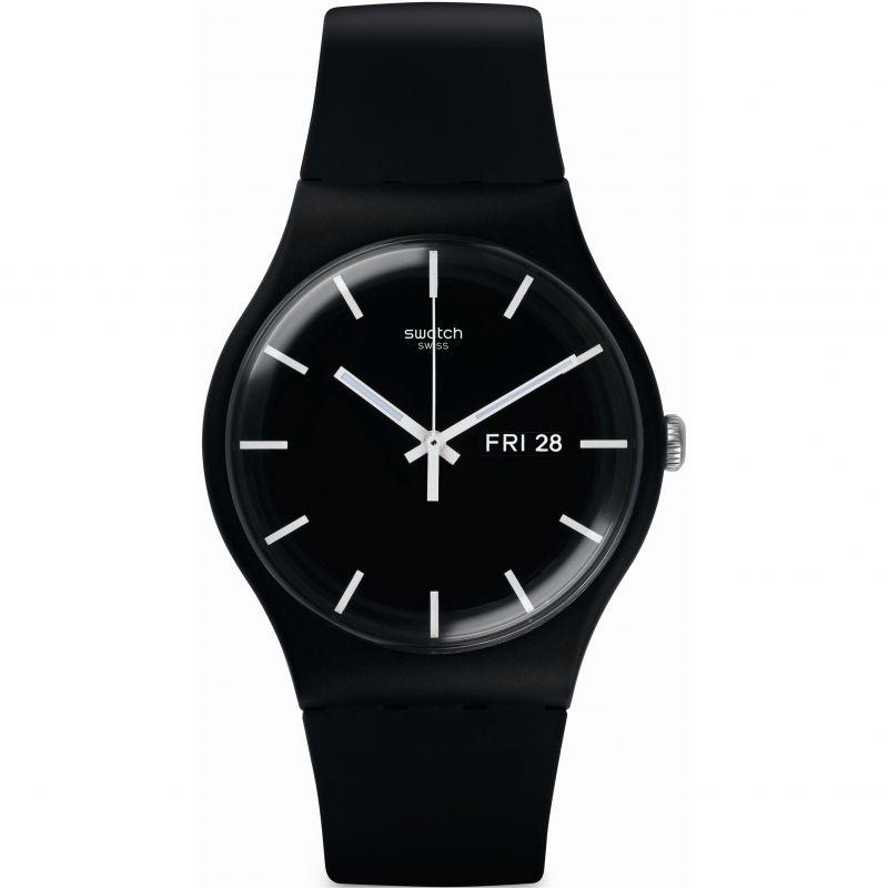 unisexe Swatch MONO BLACK Watch SUOB720