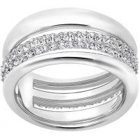Ladies Swarovski Rhodium Plated Size Q Exact Ring 58 5221571