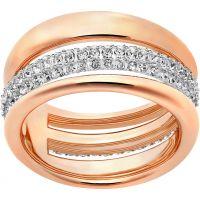 Ladies Swarovski PVD rose plating Size Q Exact Ring 58 5221573