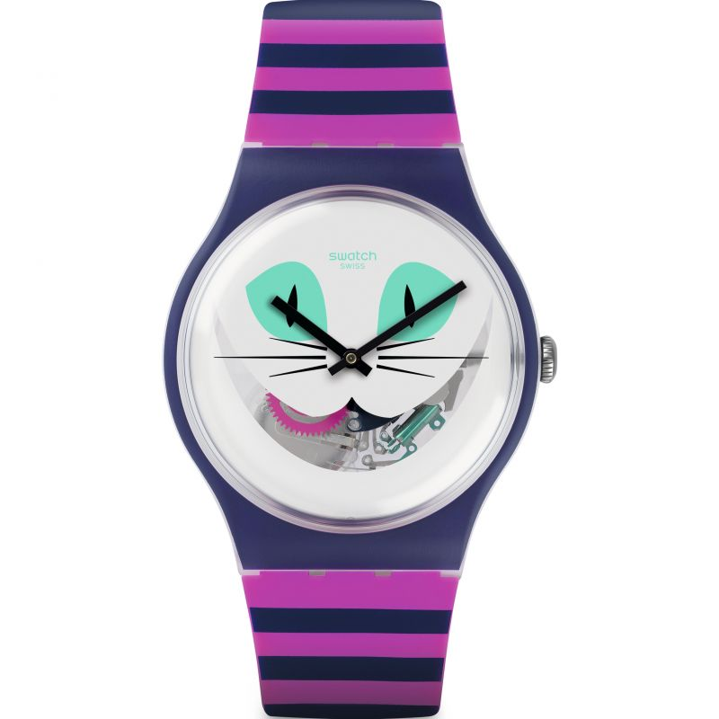 Unisex Swatch Cat Me Up Watch SUOW125