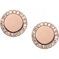 Damen Fossil PVD Rosa plating FASHION EARRINGS