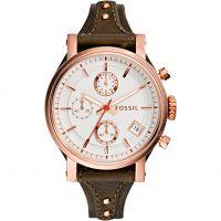 Damen Fossil Original Boyfriend Chronograf Manschette Uhr