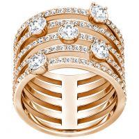 Ladies Swarovski PVD rose plating CREATIVITY RING SIZE P/Q 5221421