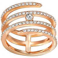 Ladies Swarovski PVD rose plating CREATIVITY RING SIZE P/Q 5221416