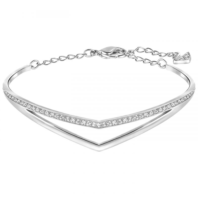 Ladies Swarovski Stainless Steel ALPHA BANGLE 5197484