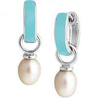 Ladies Jersey Pearl Sterling Silver Viva Freshwater Pearl Light Blue Earrings