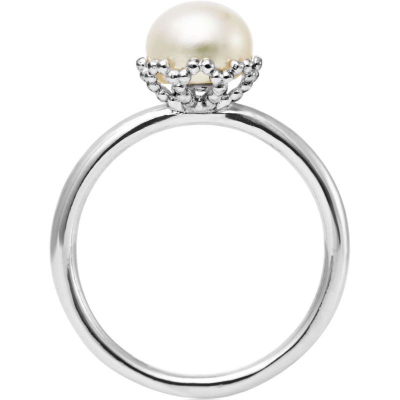 Ladies Jersey Pearl Sterling Silver Emma-Kate Freshwater Pearl Ring Size M EKR-RW-M