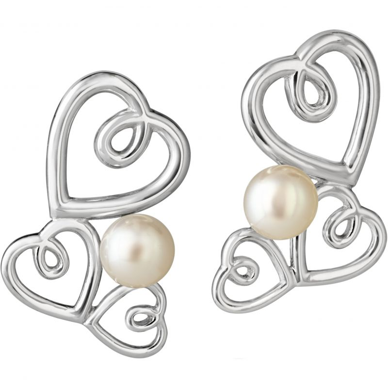 Ladies Jersey Pearl Sterling Silver Kimberley Selwood Freshwater Pearl Earrings KSE3