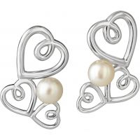 Ladies Jersey Pearl Sterling Silver Kimberley Selwood Freshwater Pearl Earrings KSE3
