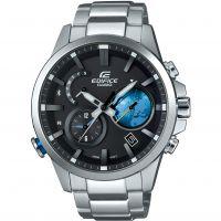 Hommes Casio Edifice Heure Traveller Bluetooth Hybride Smartwatch Alarme Chronographe Solaire Montre
