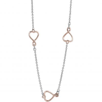 Ladies Guess Two-tone steel/gold plate Amour Necklace UBN61058