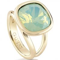 Ladies Guess PVD Gold plated CRYSTAL SHADES RING SIZE N UBR61020-54