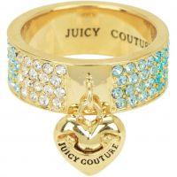 Damen Juicy Couture PVD Gold überzogen Größe L.5 charakteristisch Gradient Pave Herz Ring