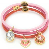 femme Juicy Couture Jewellery Charmy Elastics Hair Elastics Watch WJW752-673