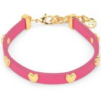 Ladies Juicy Couture PVD Gold plated Layered In Couture Heart Leather Bracelet WJW734-654