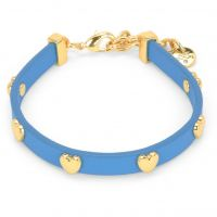 Juicy Couture Dames Layered In Couture Heart Leather Bracelet PVD verguld Goud WJW734-422