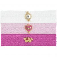 femme Juicy Couture Jewellery Flat Charmy Elastics Hair Elastics Watch WJW754-673