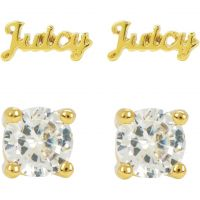 Juicy Couture Dames Juicy Expressions Stud Earring Set PVD verguld Goud WJW739-710