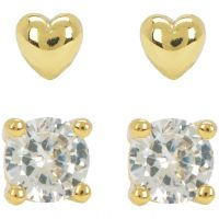 Juicy Couture Dames Juicy Expressions Heart Expressions Stud Earring Set PVD verguld Goud WJW738-710