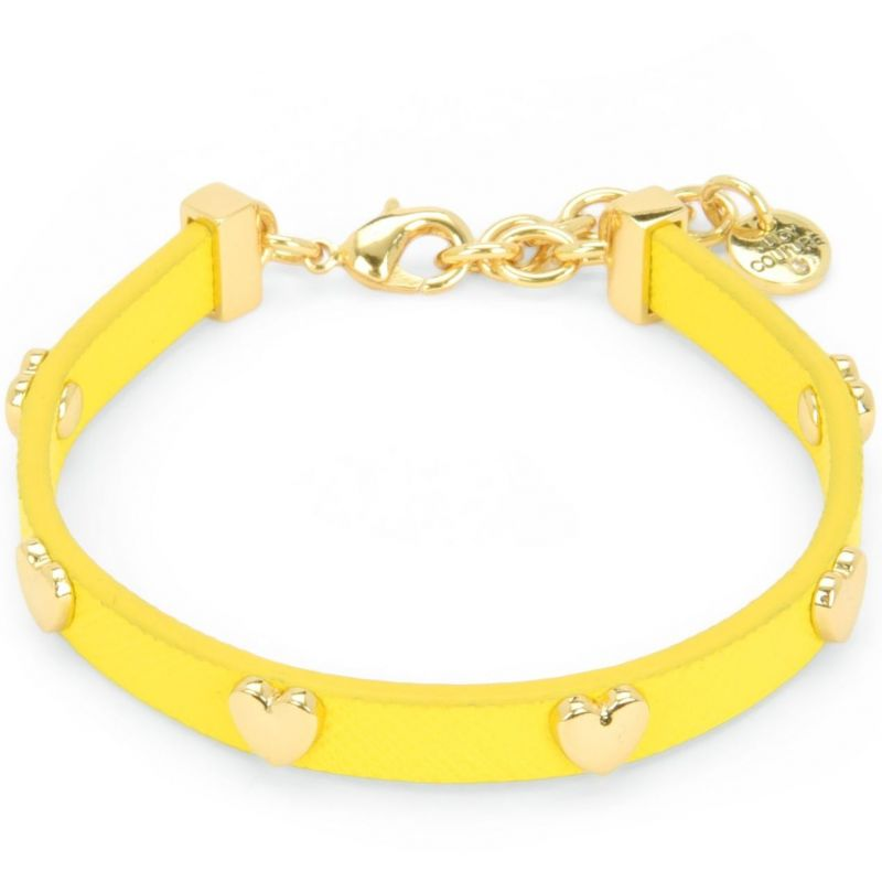 Ladies Juicy Couture PVD Gold plated Layered In Couture Heart Leather Bracelet WJW734-735