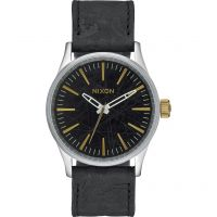 homme Nixon The Sentry 38 Leather Watch A377-2222
