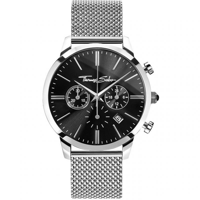 Thomas Sabo Eternal Rebel Herenchronograaf Zilver WA0245-201-203-42MM