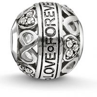 femme Thomas Sabo Jewellery Karma Beads Love Forever Bead Watch K0212-643-14