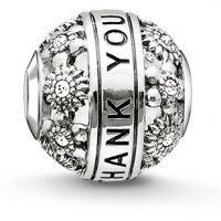 femme Thomas Sabo Jewellery Karma Beads Thank You Bead Watch K0213-643-14