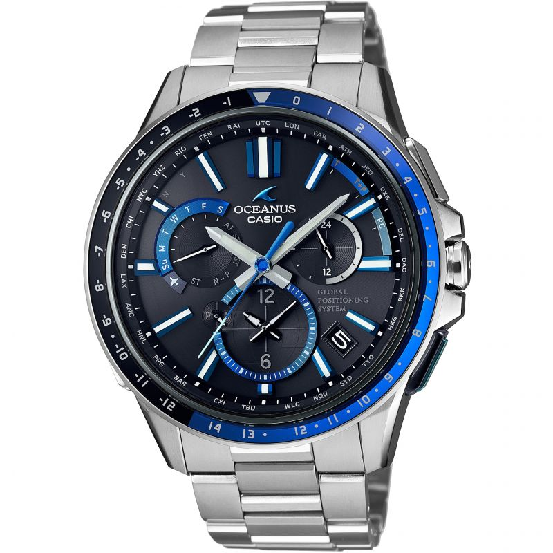 Mens Casio Oceanus GPS Hybrid Alarm Watch