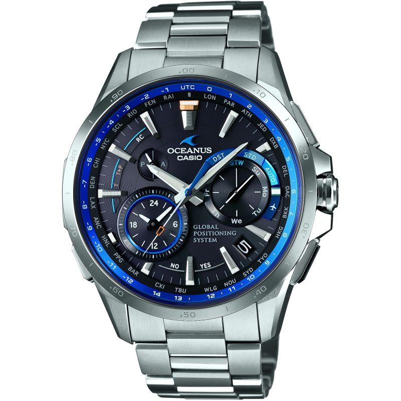 Mens Casio Oceanus GPS Hybrid Titanium Chronograph Radio Controlled Watch
