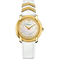Versace DV25 Round 36mm Dameshorloge Wit VAM010016