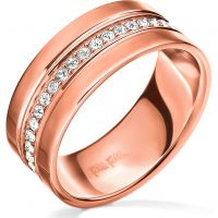 Ladies Folli Follie PVD rose plating Touch Ring Size P
