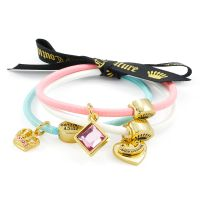 femme Juicy Couture Jewellery Set Of 3 Charmy Hair Elastics Watch WJW949-445-U