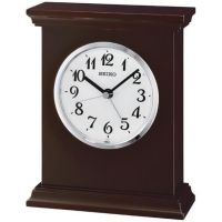 Seiko Clocks Wooden Mantel Alarm