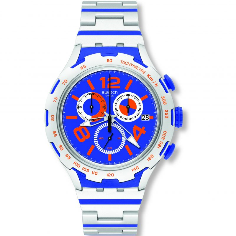 Unisex Swatch Irony X-Lite -Chemical Blue Chronograph Watch