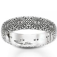Damen Thomas Sabo Sterlingsilber Größe Q.5-R Ethno Ornamentation Ring