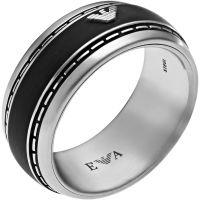 Herren Emporio Armani Edelstahl Größe W.5 Ring